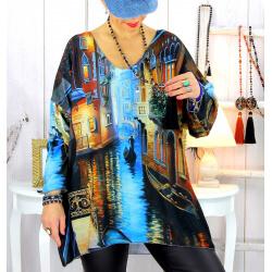 Pull tunique maille douce grande taille WILLO M24 Pull tunique femme
