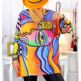 Pull tunique maille douce grande taille WILLO M26 Pull tunique femme