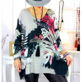 Pull tunique maille douce grande taille WILLO M28 Pull tunique femme