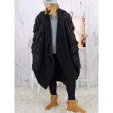 Manteau boule laine bouillie femme grande taille TANIA Manteau femme grande taille