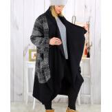 Manteau boule laine bouillie femme grande taille NELSON Manteau femme grande taille