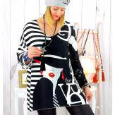 Pull tunique maille douce grande taille WILLO M30 Pull tunique femme
