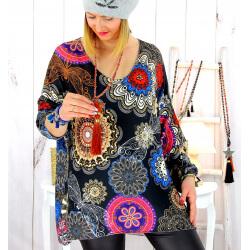 Pull tunique maille douce grande taille WILLO M31 Pull tunique femme