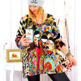 Pull tunique maille douce grande taille WILLO M33 Pull tunique femme