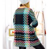Pull tunique maille douce grande taille WILLO M34 Pull tunique femme
