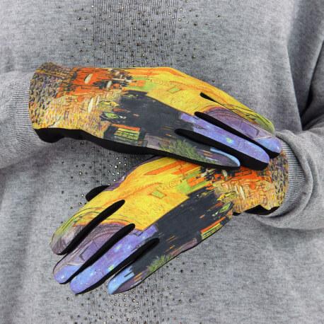 Gants femme hiver tactiles suédine polaire tableau L5 Gants femme