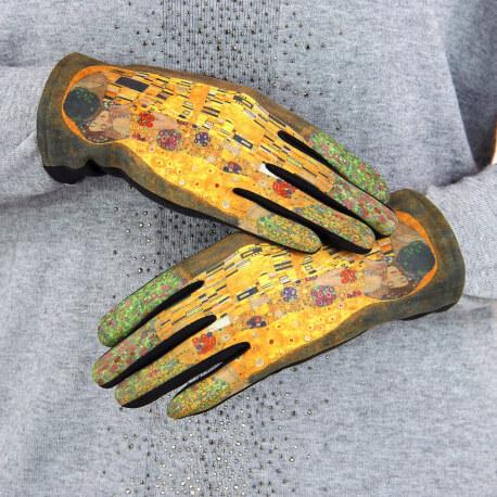 Gants femme hiver tactiles suédine polaire tableau L9 Gants femme