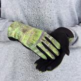 Gants femme hiver tactiles suédine polaire tableau L16 Gants femme