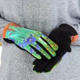 Gants femme hiver tactiles suédine polaire tableau L3 Gants femme