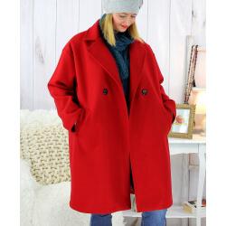 Manteau croisé effet cachemire hiver rouge SPESSO Manteau femme grande taille