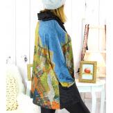 Pull tunique grande taille + écharpe MURKA M2 Pull tunique femme