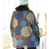 Pull tunique grande taille + écharpe MURKA M3 Pull tunique femme