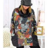 Pull tunique grande taille + écharpe col MURKA Tunique hiver femme
