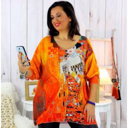 Pull tunique maille douce femme grande taille WILLO M37 Pull tunique femme