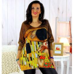 Pull tunique maille douce femme grande taille WILLO M38 Pull tunique femme