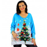 Pull tunique maille douce femme grande taille WILLO M41 Pull femme grande taille