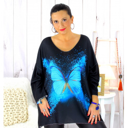 Pull tunique maille douce femme grande taille WILLO M44 Pull femme grande taille