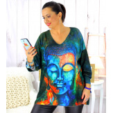 Pull tunique maille douce femme grande taille WILLO M45 Pull femme grande taille