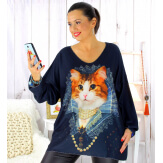 Pull tunique maille douce femme grande taille WILLO M46 Pull femme grande taille