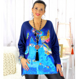 Pull tunique maille douce femme grande taille WILLO M47 Pull femme grande taille