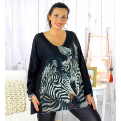 Pull tunique maille douce femme grande taille WILLO M49 Pull femme grande taille