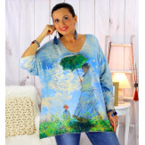 Pull tunique maille douce femme grande taille WILLO M51 Pull femme grande taille