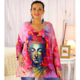Pull tunique maille douce femme grande taille WILLO M52 Pull femme grande taille