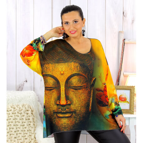 Pull tunique maille douce femme grande taille WILLO M56 Pull femme grande taille