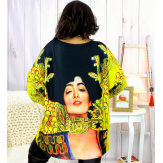 Pull tunique maille douce femme grande taille WILLO M61 Pull femme grande taille