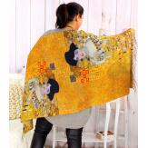 Écharpe étole châle femme laine imprimée KLIMT ADELE Écharpe laine femme
