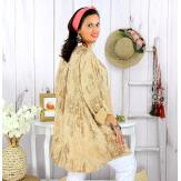 Tunique longue grande taille tencel GIMANI camel Tunique femme grande taille