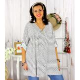 Tunique longue grande taille tencel EPOLYNE blanche Tunique femme grande taille