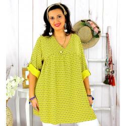 Tunique longue grande taille tencel EPOLYNE jaune Tunique femme grande taille