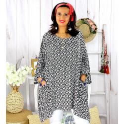 Tunique longue femme grande taille tencel LARGO blanche Tunique femme grande taille