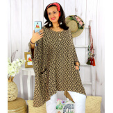 Tunique longue femme grande taille tencel LARGO camel Tunique femme grande taille