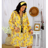 Robe tunique grande taille fleurie IMPERIAL jaune Robe tunique femme grande taille