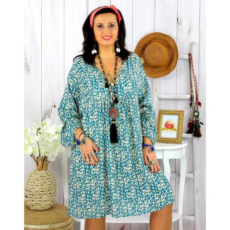 Robe tunique grande taille liberty HAVANA canard Robe tunique femme grande taille