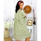 Robe tunique grande taille liberty HAVANA kaki clair Robe tunique femme grande taille