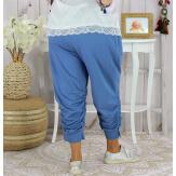 Pantalon legging femme grande taille été LUNI bleu jean Legging femme