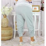 Pantalon legging femme grande taille été LUNI gris clair Legging femme