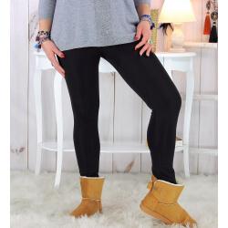 Legging polaire femme grande taille THERMA noir Legging grande taille