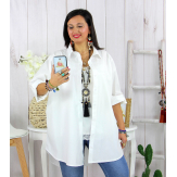 Chemise longue femme grande taille ORSAY blanche Chemise femme grande taille