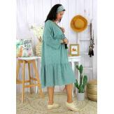 Robe bohème été femme grande taille SQUADRA vert Robe été grande taille