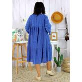 Robe bohème été femme grande taille SQUADRA bleu royal Robe été grande taille