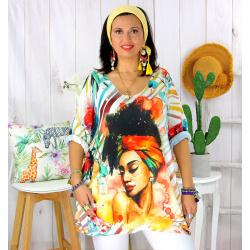 Tunique t-shirt maille imprimé femme grande taille CYBELE 1 Tee shirt tunique femme grande taille