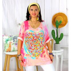 Tunique t-shirt maille imprimé femme grande taille CYBELE 2 Tee shirt tunique femme grande taille