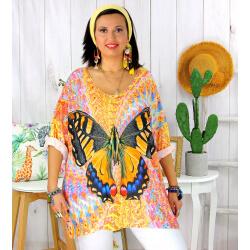 Tunique t-shirt maille imprimé femme grande taille CYBELE 3 Tee shirt tunique femme grande taille