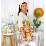 Tunique t-shirt maille imprimé femme grande taille CYBELE 4 Tee shirt tunique femme grande taille