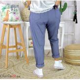 Pantalon été femme grande taille stretch PRADO jean Pantalon femme grande taille