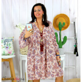 Robe tunique grande taille été bohème RUSTY rose Robe tunique femme grande taille